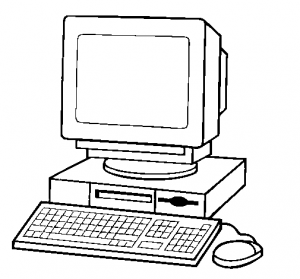 80+ Computer Clipart Black And White.