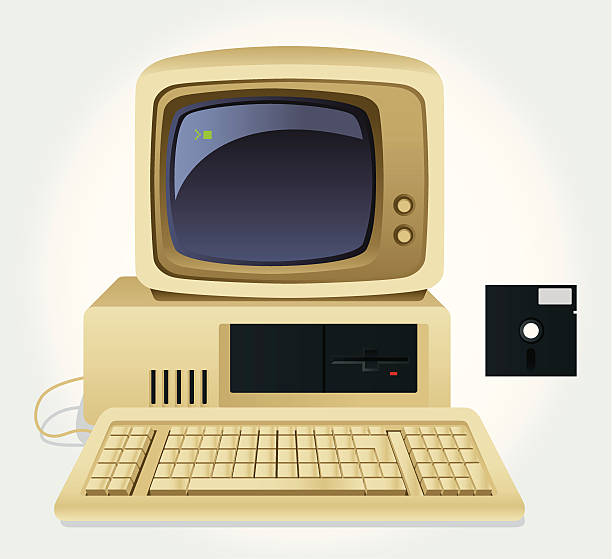 Best Old Computer Illustrations, Royalty.