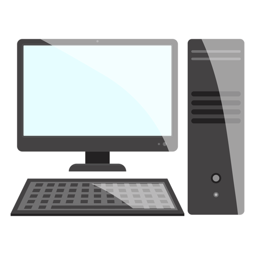 Black and white computer desktop icon.