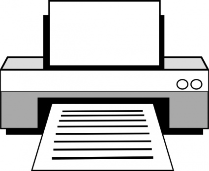 Computer printer clipart black and white » Clipart Station.