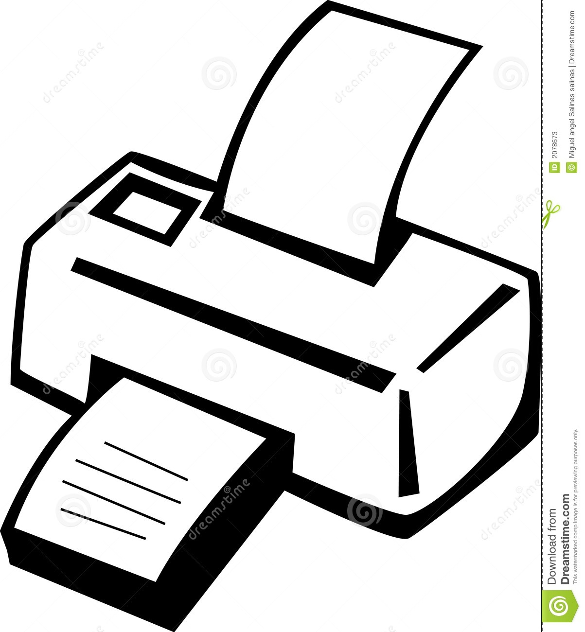 Computer Printer Clipart Black And White.