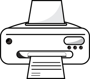 Printer Clipart Black And White.