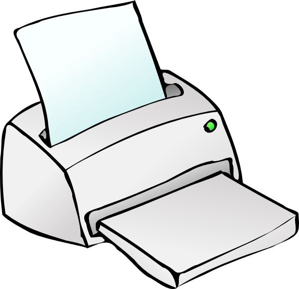 Inkjet Printer clip art Free vector in Open office drawing.