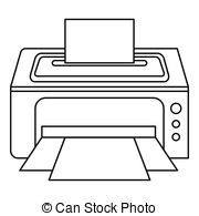 Computer printer clipart black and white 6 » Clipart Station.