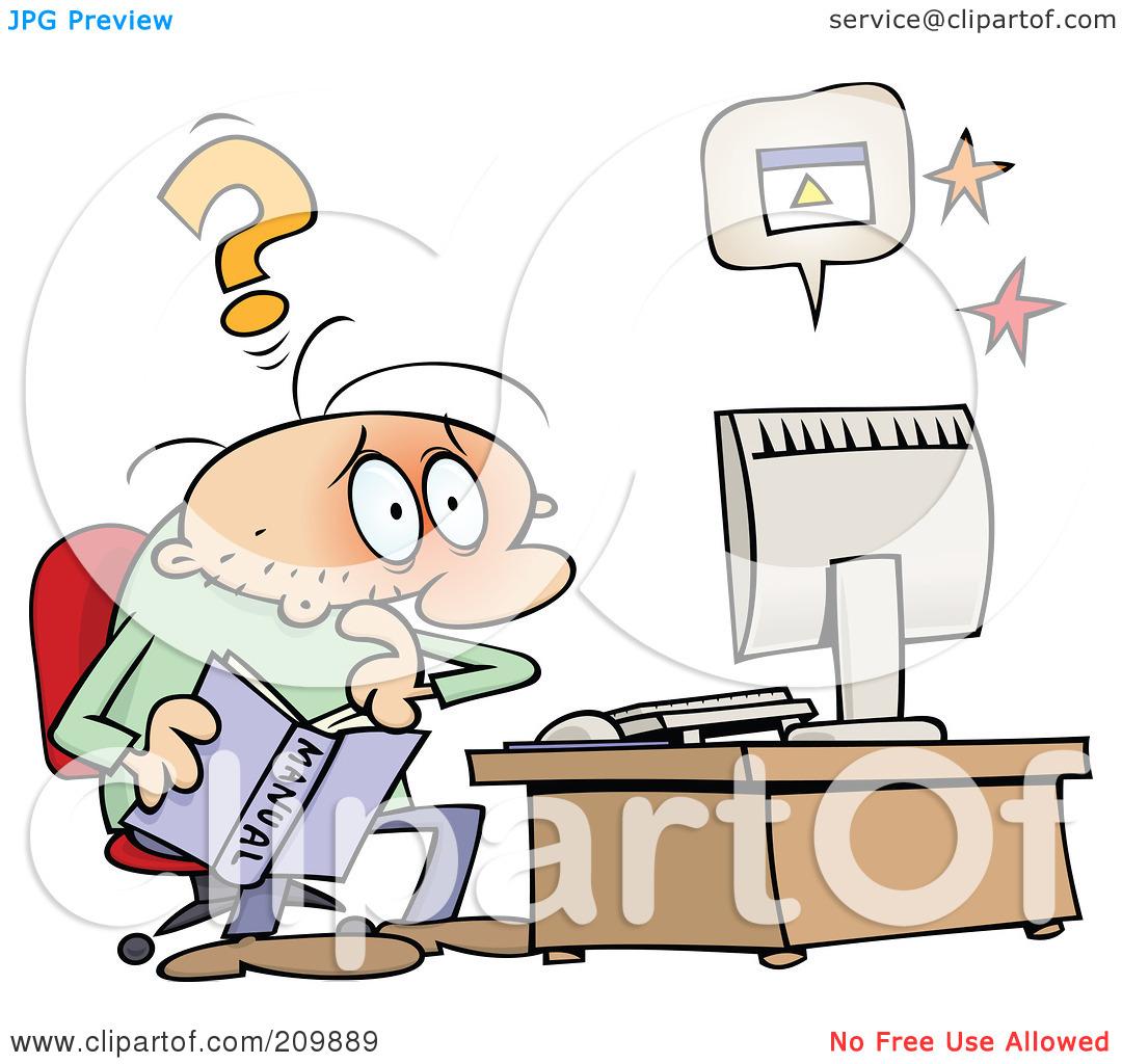 Computer problem clipart #13