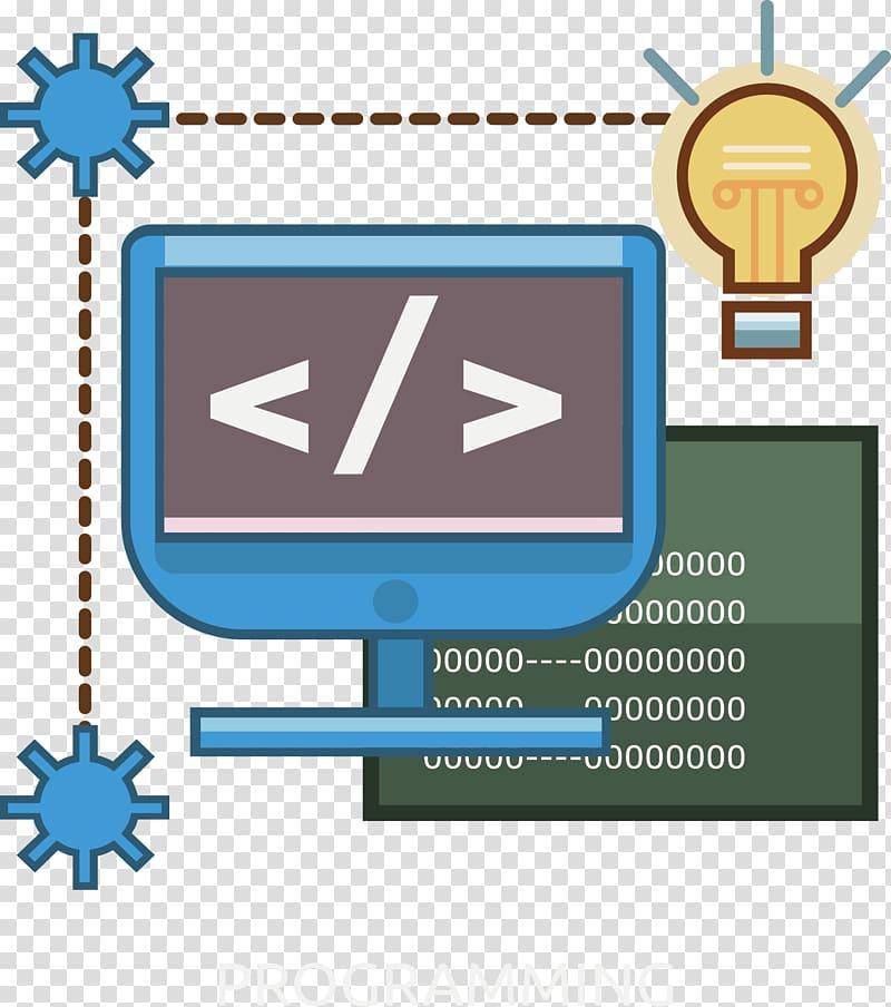 Electricity programming illustration, Computer programming Software.