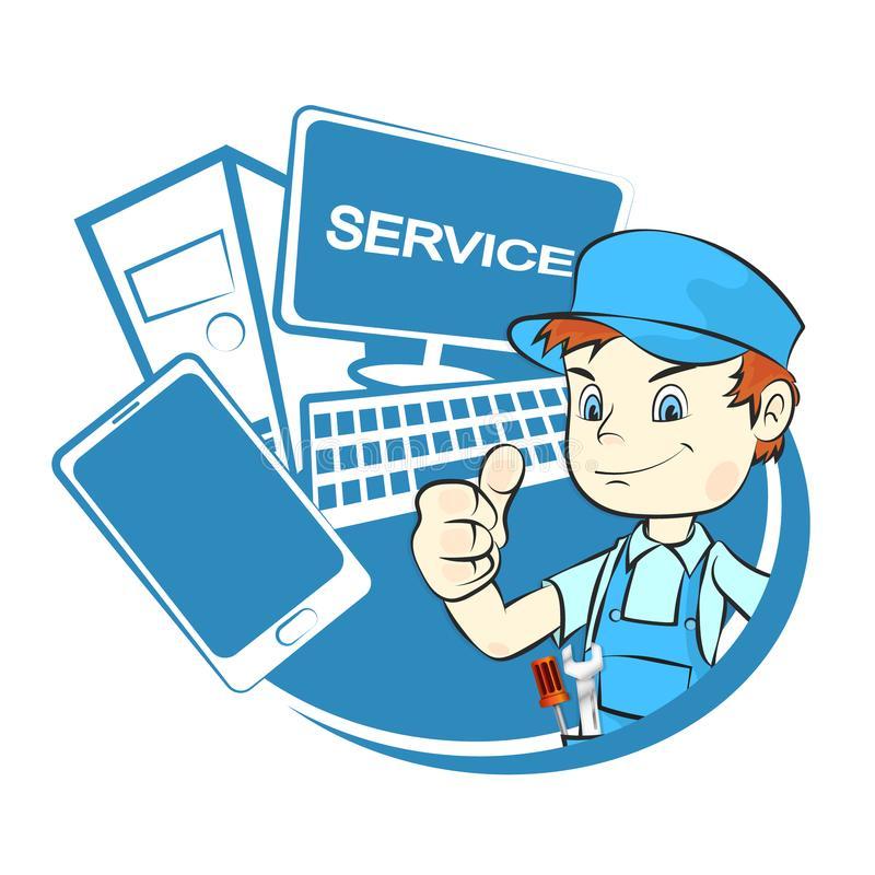 Computer Repair Stock Illustrations.