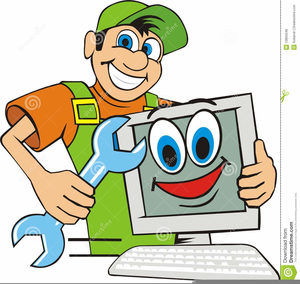 Computer Repair Man Clipart.