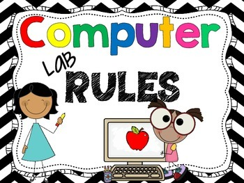 Computer Lab Rules Clipart.
