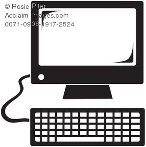 Computer Screen Clipart Black.