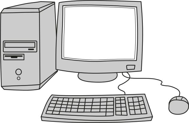 Computer screen blank.