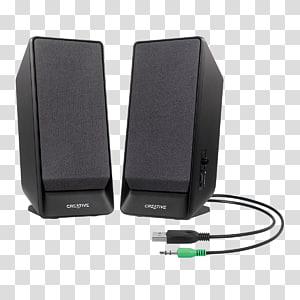 Loudspeaker Computer speakers Stereophonic sound, Black stereo.