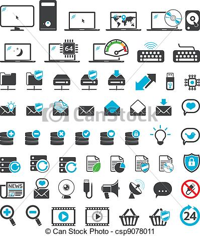 Computer icons set.