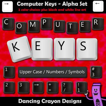 Alphabet Letters: Computer Keys Alphabet Clipart.
