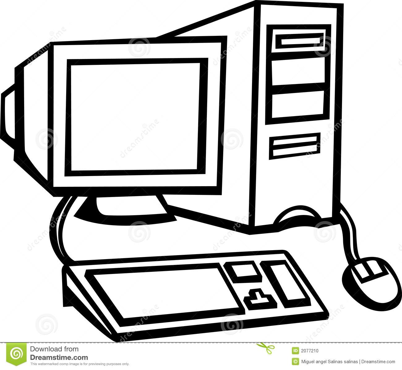 Desktop computer system clipart.