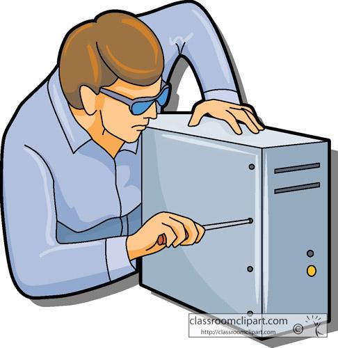 Computer Technician Clipart.