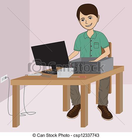 computer technician clipart #10