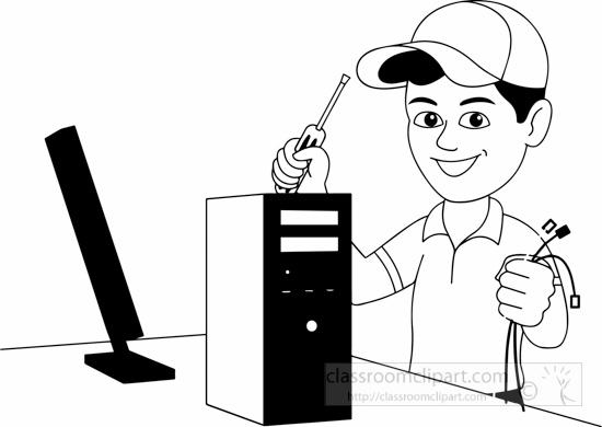 computer technician clipart 20 free Cliparts | Download ...Computer Repair Clip Art Black And White