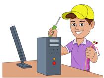 computer technician clipart #13