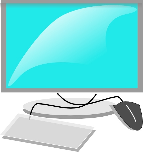 Computer Terminal clip art Free vector in Open office drawing svg.