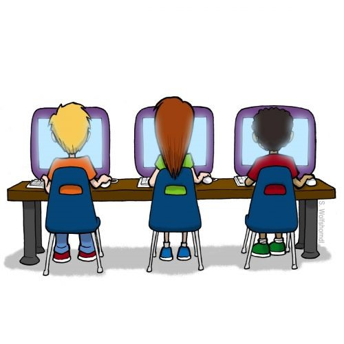 computer testing clipart #18