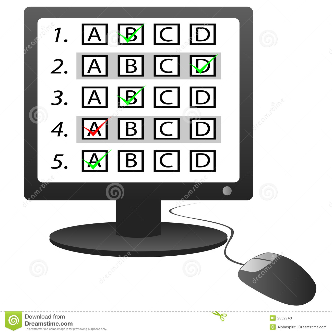 computer testing clipart #13