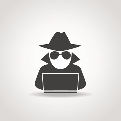 Computer Thief Clipart.