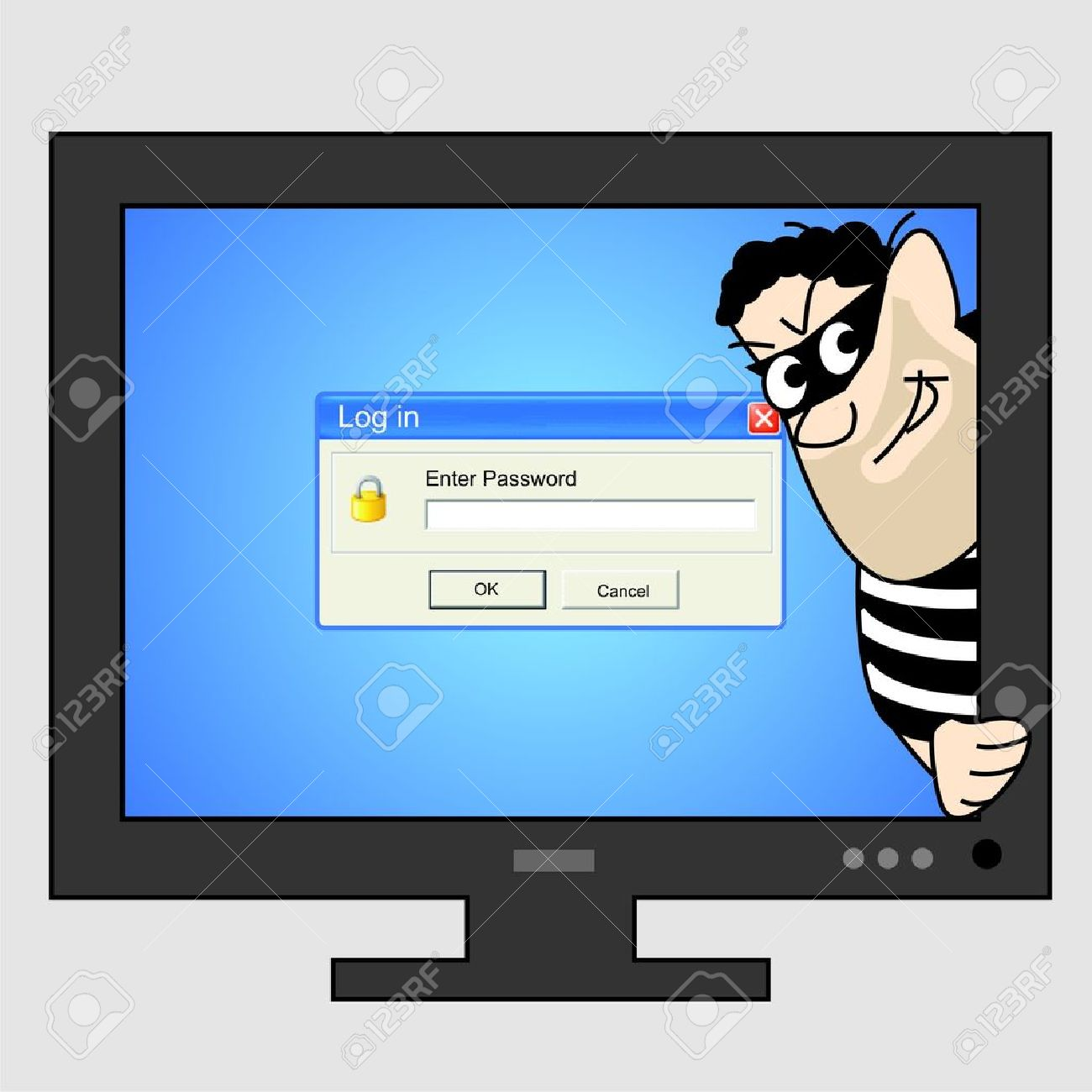 computer thief clipart #8