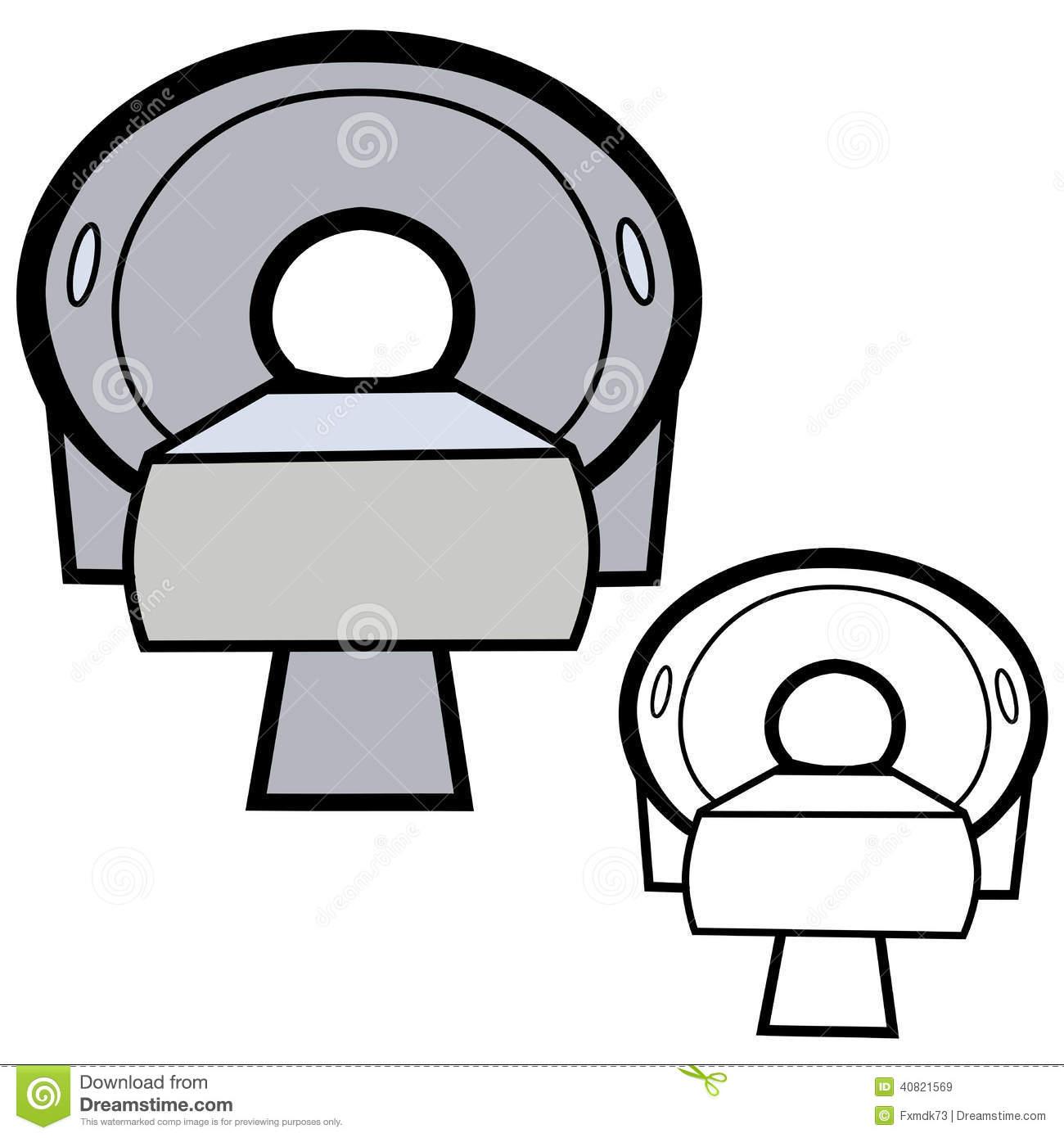 CT Scanner Stock Vector.