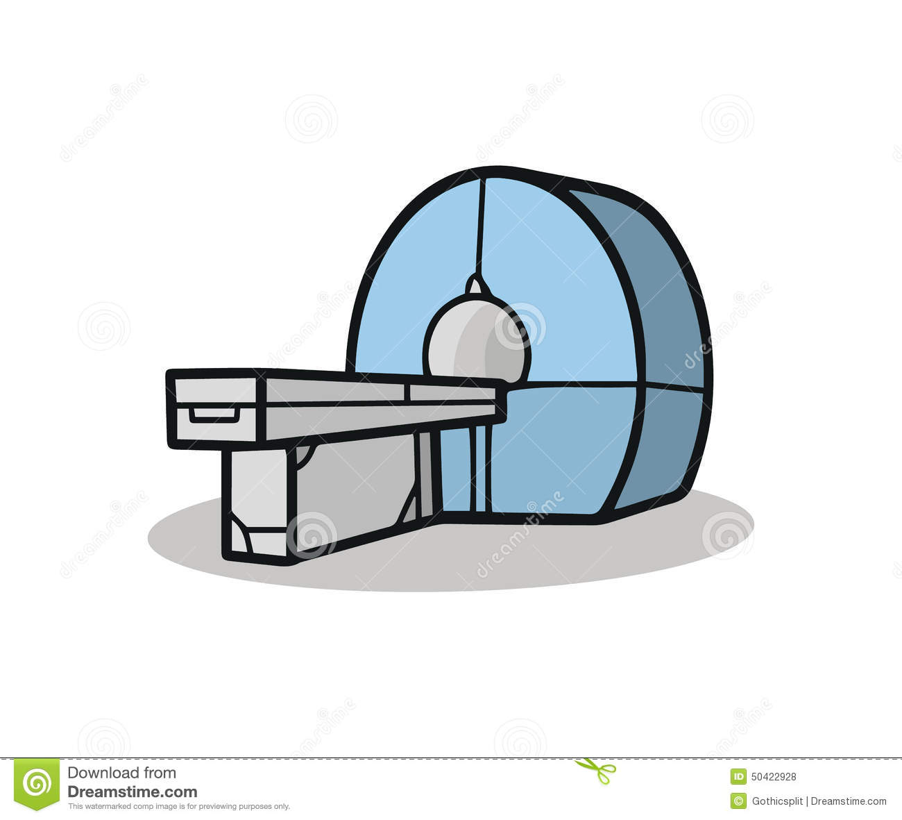 CT Scanner Stock Vector.