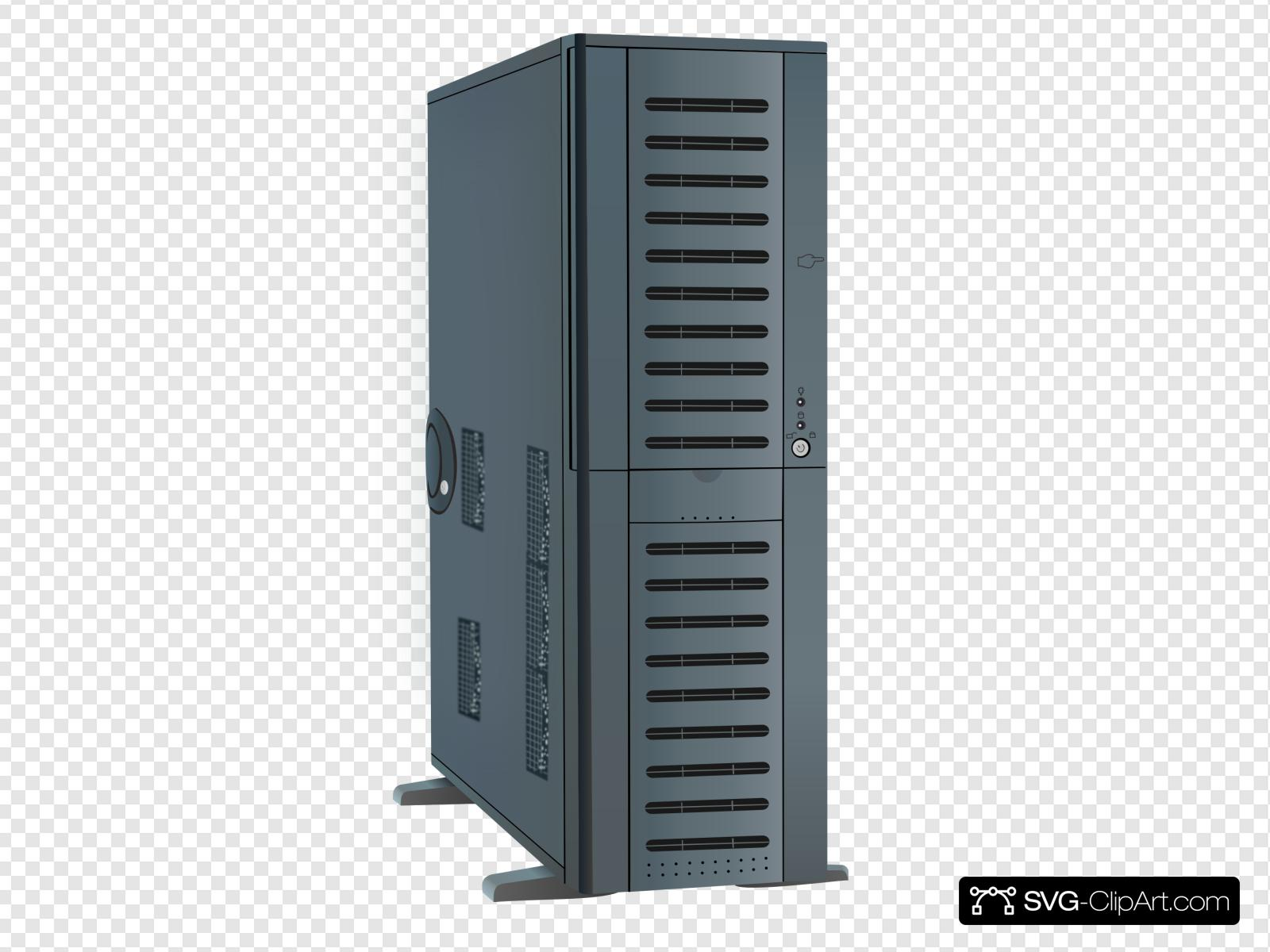 Computer Tower Case Clip art, Icon and SVG.
