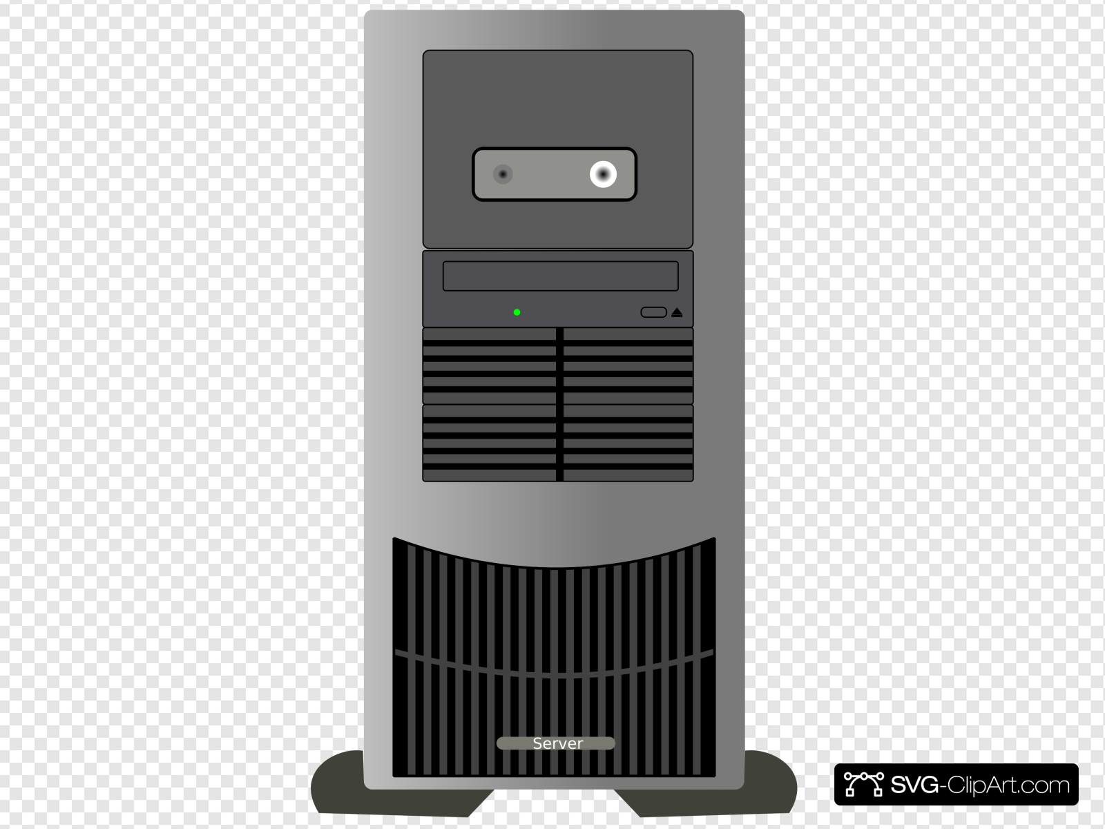 Computer Tower Clip art, Icon and SVG.
