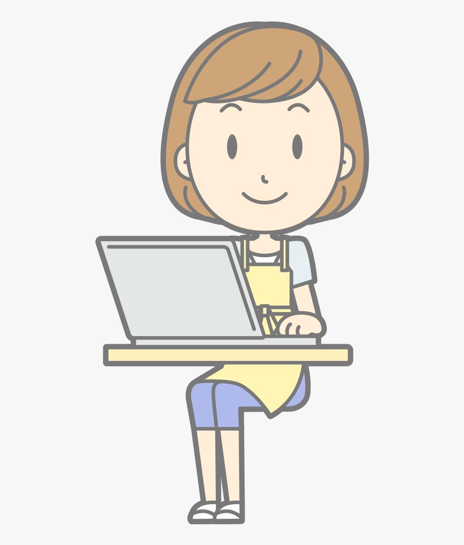 Female Computer User.