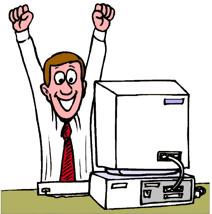 Free Clipart Computer User.