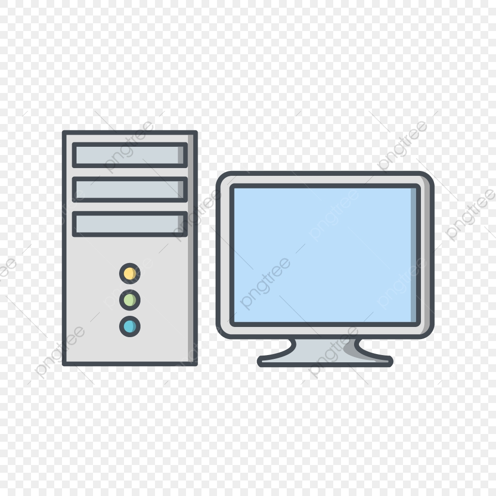 Computer Vector Icon, Computer Icon, Monitor Icon, Pc Icon PNG and.