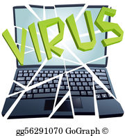 Computer Virus Clip Art.