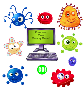 Computer Virus Memory Game Clip Art at Clker.com.