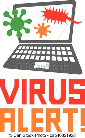 computer virus alert icon.