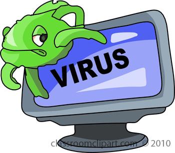 Clip Art Computer Virus Clipart.