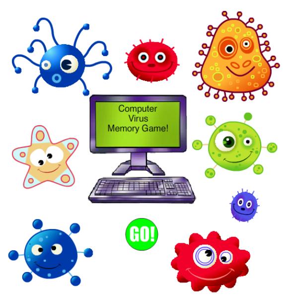 Computer Virus Memory Game Clip Art at Clker.com.