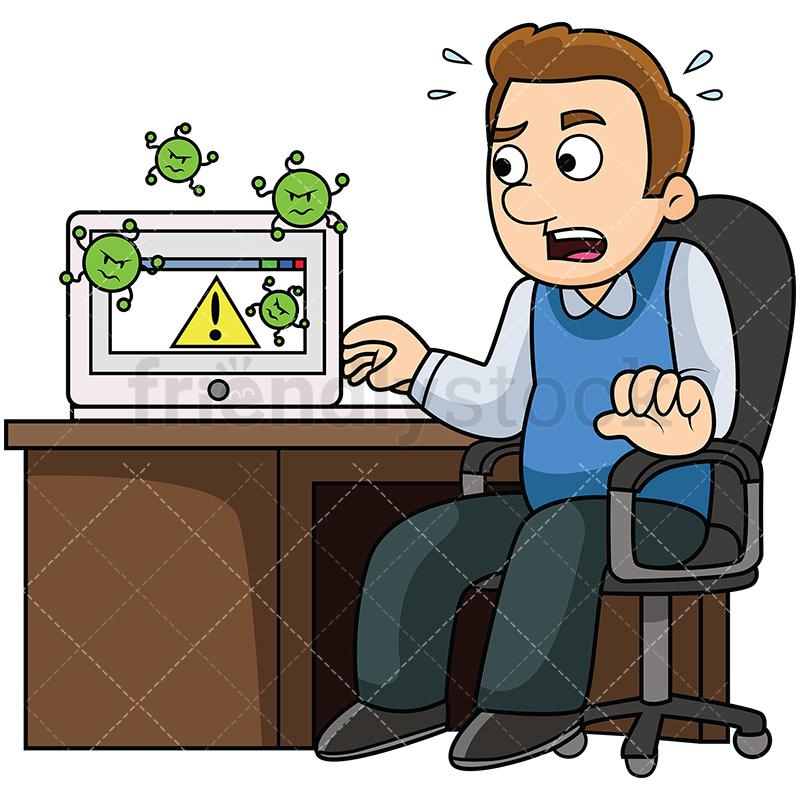 Computer Virus Clipart.