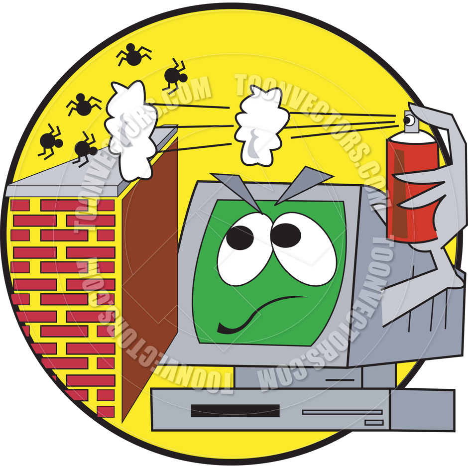Computer Worm Clipart.