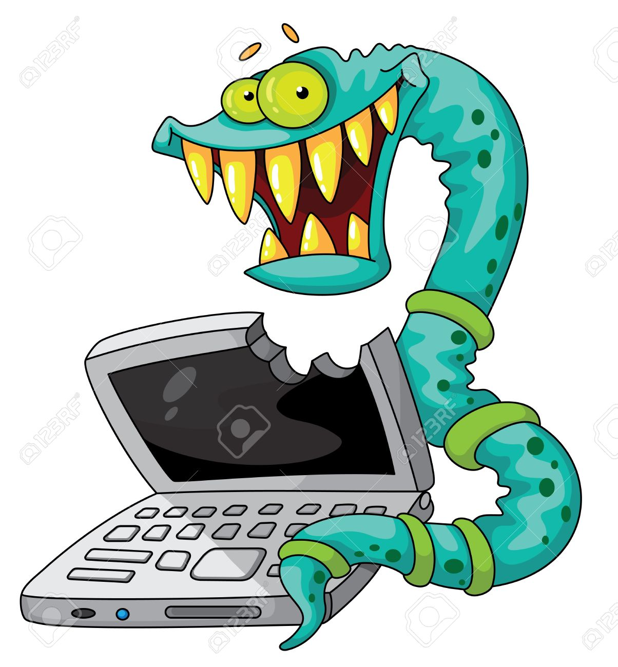 Illustration Of A IT Worm Royalty Free Cliparts, Vectors, And.