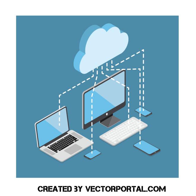 Computers 3D vector clip art.