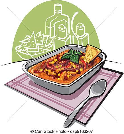 Vectors Illustration of Chili con carne csp9163267.