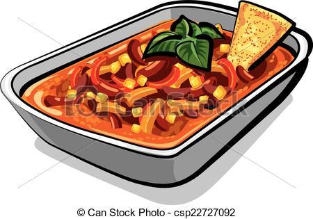 EPS Vectors of chili con carne.