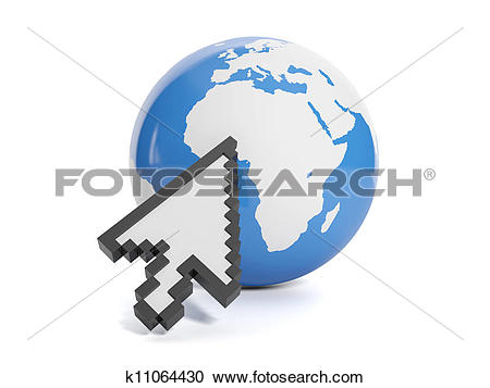 Stock Photography of 3d illustration of internet technology.