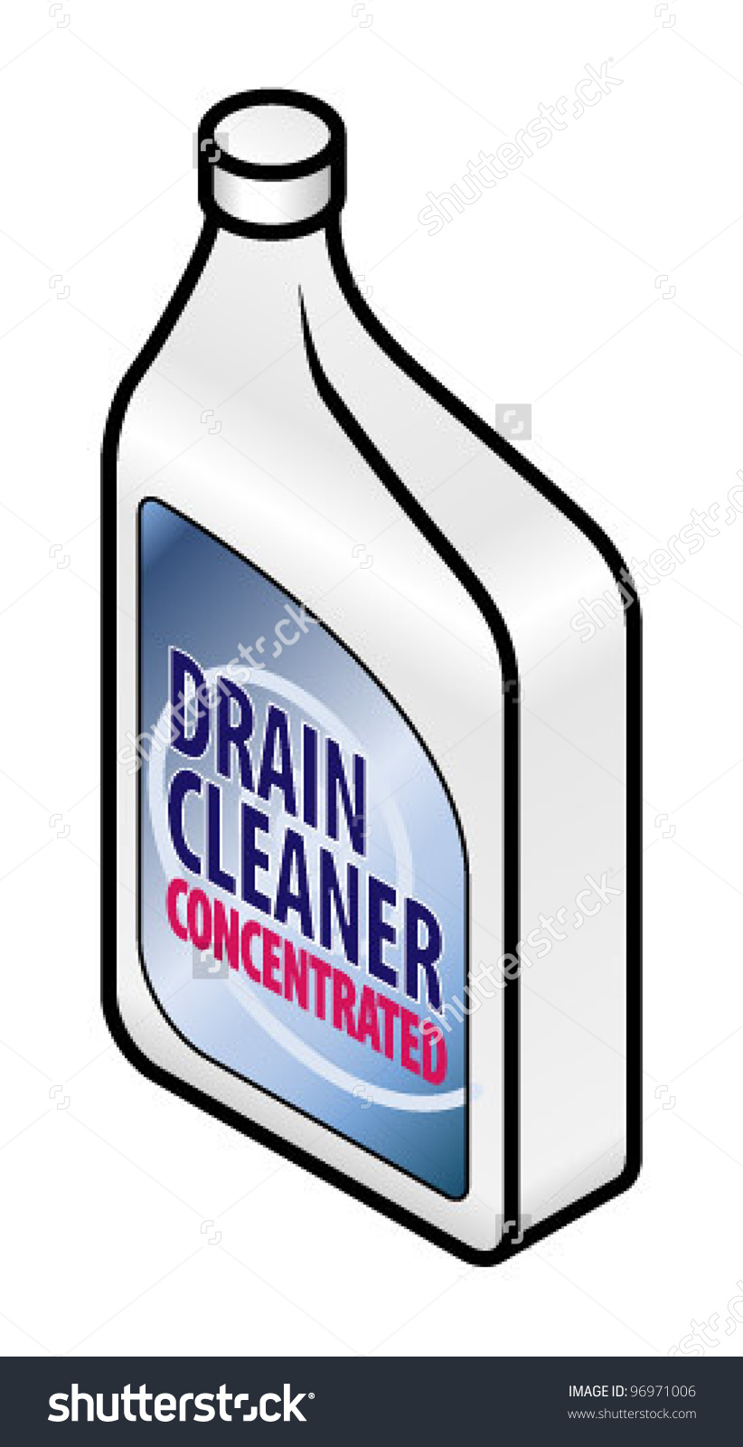 Bottle Concentrated Drain Cleaner Stock Vector 96971006.