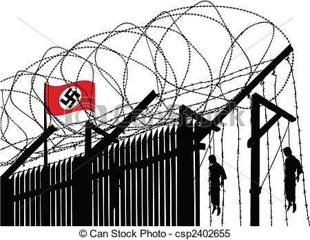 Concentration camp clipart.