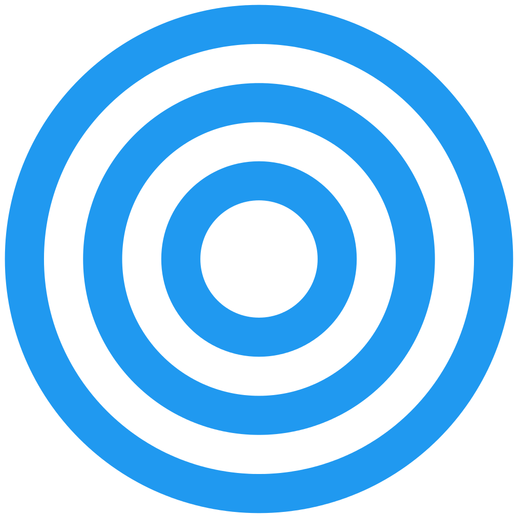 Clipart 3 concentric circles.